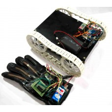Flex Sensor Based HAND GESTURE Controlled All Terrain ROBOT - Arduino & Bluetooth