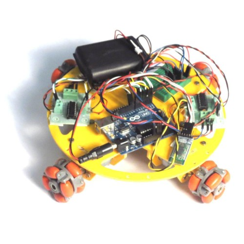 Bluetooth Controlled OMNI-DIRECTIONAL ROBOT -Arduino and