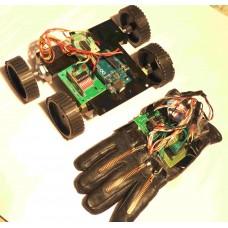 RF Controlled FLEX SENSOR Based Hand Gesture Robot Using Arduino