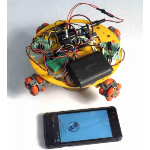 Voice controlled omni directional robot arduino and