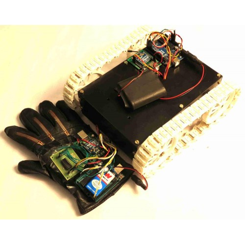Flex sensor based hand gesture controlled all terrain