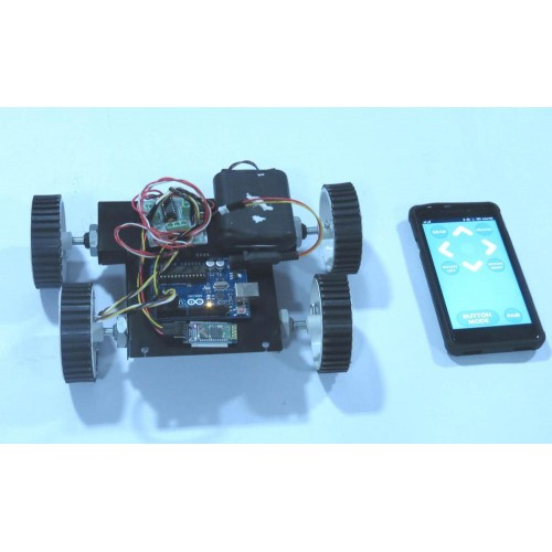 Bluetooth controlled robot arduino and android app based