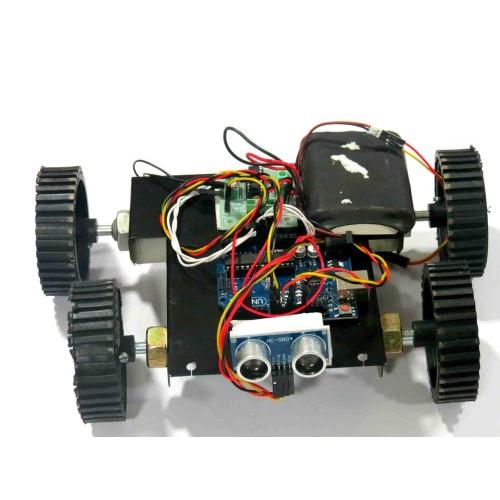 Arduino And Ultrasonic Sensor Based Obstacle Avoidance Robot