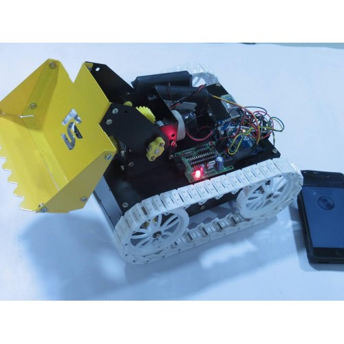 Voice controlled dumpster robot arduino and bluetooth based