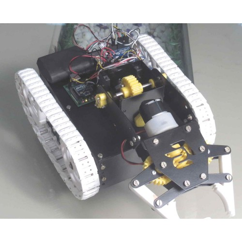 Zigbee controlled pick place robot arduino based
