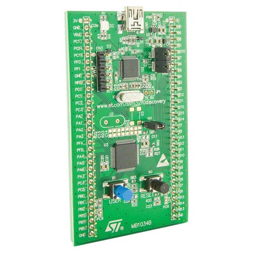 STM32F0DISCOVERY - Evaluation Kit, STM32F0 MCU, On-Board ST-LINK/V2  Debugger/Programmer, Standalone Functionality