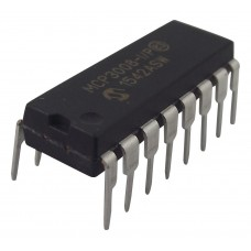 MCP3008-I/P - 8-Channel 10-Bit ADC With SPI Interface - 200 kSPS, Single, 2.7 V, 5.5 V, DIP