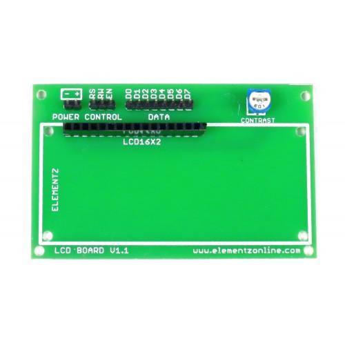 16x2 LCD Display Base Board