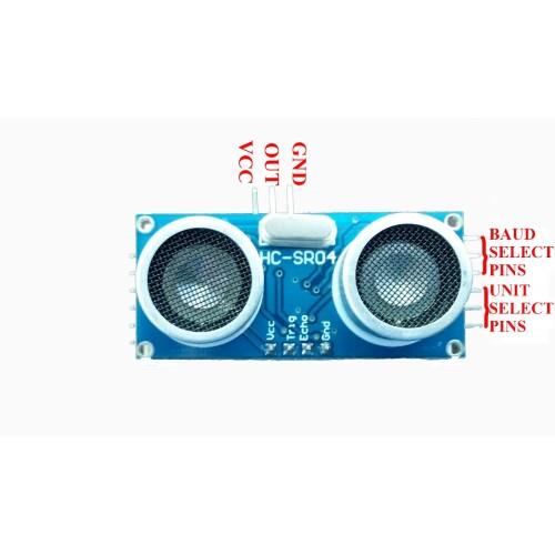 HC-SR04 Ultrasonic Sensor Module with serial converter board