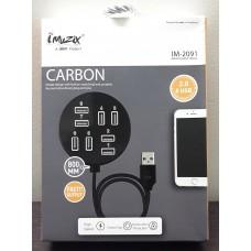 UBON imuzix High Quality 8 Ports 2.0 Hi-Speed USB Hub Portable for Laptop/Notebook/PC/Mac