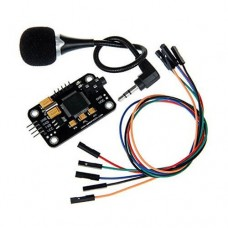 Voice / Speech Recognition Module Kit with Voice Control board, Microphone, Jumper Wire for Arduino, Raspberry Pi, AVR