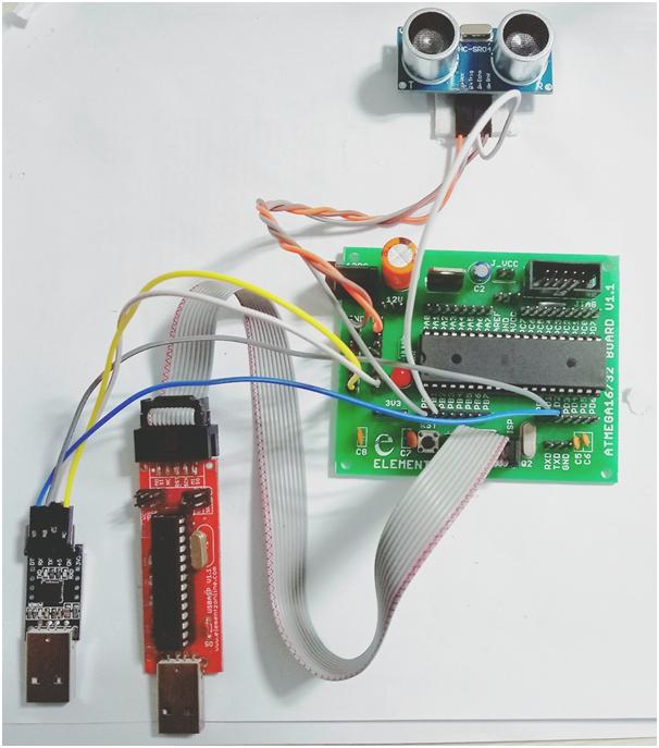 Interfacing Ultrasonic Sensor in Atmega 16 or Atmega 32